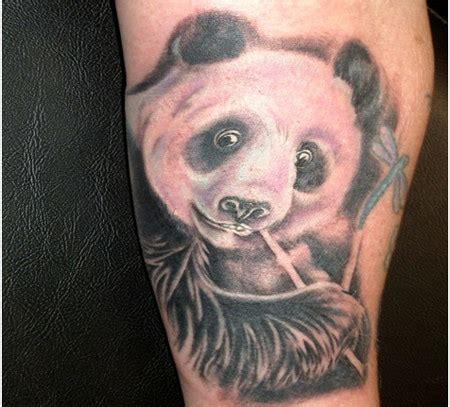 panda tattoo with bamboo 69 panda bamboo tattoos