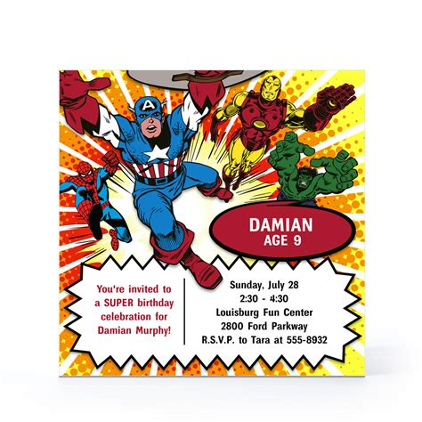 marvel birthday card template 7 best images of free printable birthday