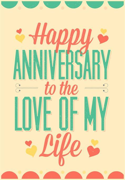 Love of My Life   Free Happy Anniversary Card   Greetings