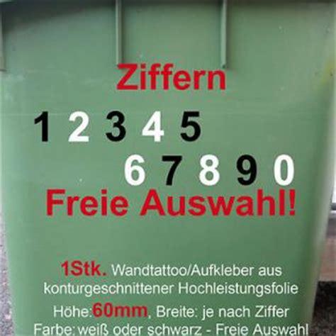 Aufkleber Vom Briefkasten Entfernt by Aufkleber Hausnummer M 252 Lltonne M 252 Lleimer Wunsch Zahl