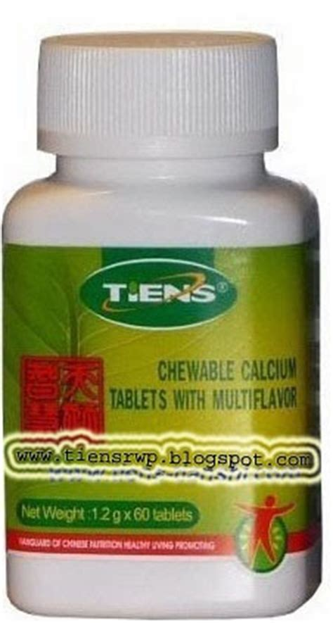 Tiens Tianshi Calcium Chewable Tablets Isi 60 Tablet tiens international tianshi international