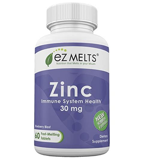 Vitaminsuplemen Impor Blackmores Vitamin Zinc ez melts zinc 30 mg fast melting tablets all blueberry flav