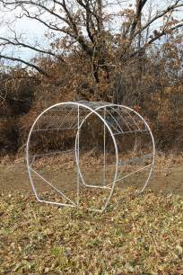 Building A Hay Bale Blind Sturdy Aluminum Galvanized Frame Of Hay Bale Blind