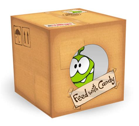 Papercraft Box - quot cut the rope quot and quot pudding monsters quot interesting paper