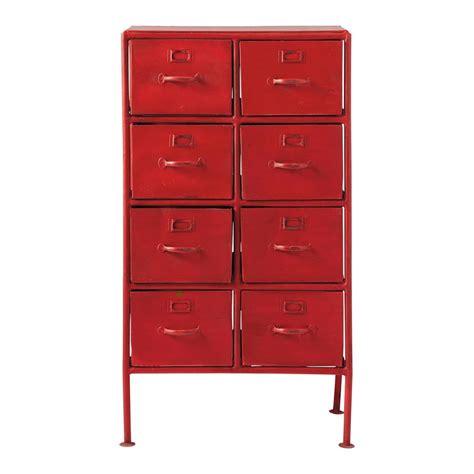 Ordinaire Meuble De Rangement Chambre Garcon #6: Cabinet-de-rangement-indus-en-metal-rouge-l-52-cm-cranberry-1000-2-40-130953_1.jpg