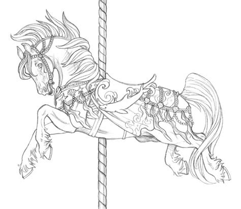 coloring pages of carousel animals carousel coloring pages coloring home