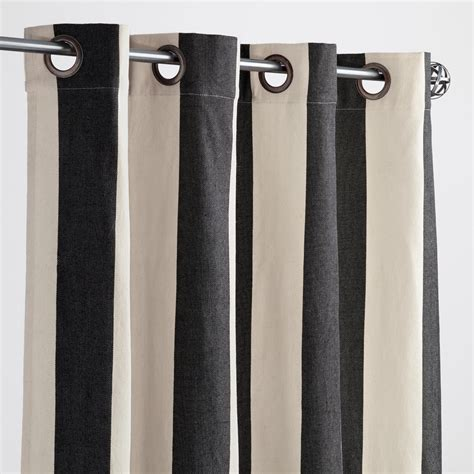 black outdoor curtains black and white striped awning outdoor curtains set of 2