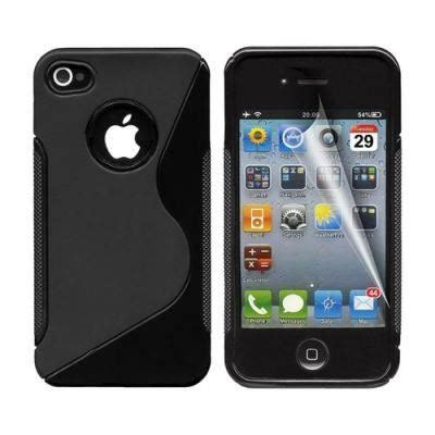 coque iphone 4 4s protection minigel s line noir protection ecran achat coque bumper