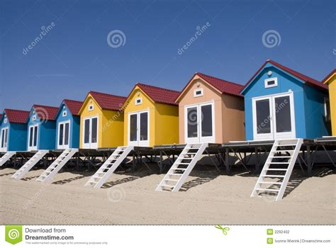 Beach Houses Plans blue little beach houses stock photo image of netherlands