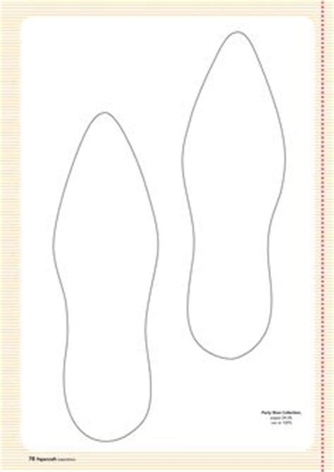 shoe template for card templates clothing and shoes on paper shoes