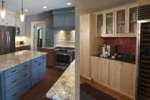 Painting Oak Kitchen Cabinets Before And After Kitchen