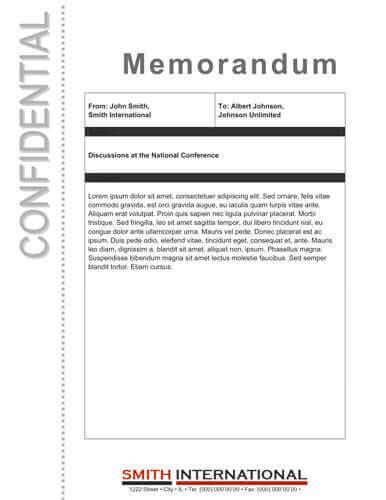 confidential memorandum template thevictorianparlor co