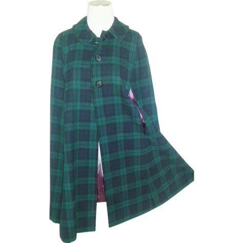 Plaid Cape Top Vintage Wool Plaid Cape From Thevintagecloset On Ruby