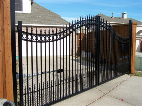 double swing gate automatic gate pictures texas best fence