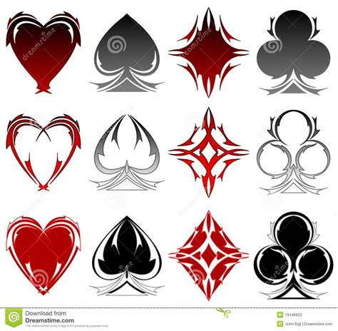 card symbol tattoos stock photography image 19446622