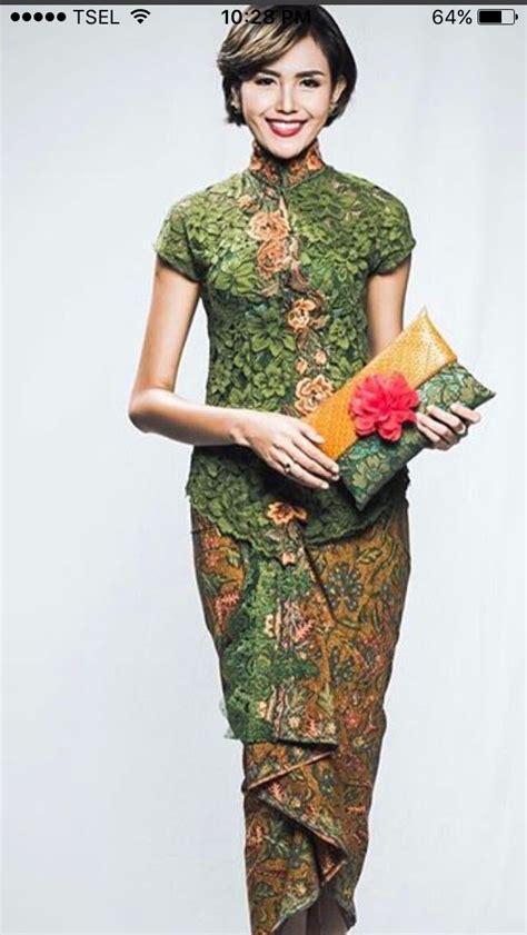 Batik ijo   Batik Fashion   Pinterest   Kebaya, Brokat and
