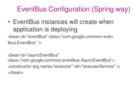 how to design an eventbus java guava s event bus