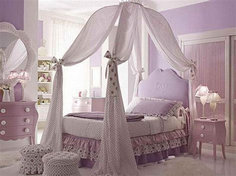 canopy bed decor decoration decorating canopy bed for girl with purple