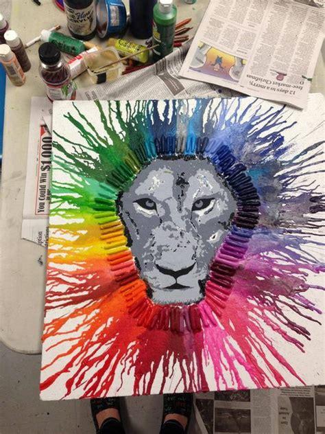 artwork ideas fun and budget friendly melted crayon art ideas