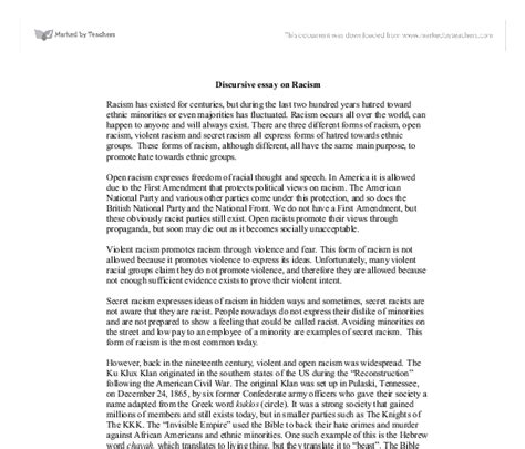 Prejudice Definition Essay by Discursive Essay On Racism Images Frompo