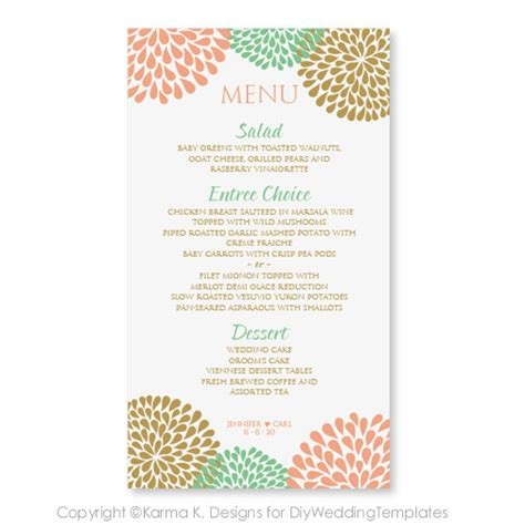 menu card templates wedding menu card template instantly edit