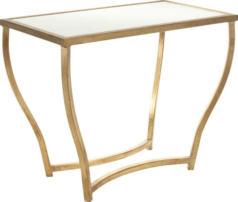 white and gold table safavieh nancy marble accent table white and gold