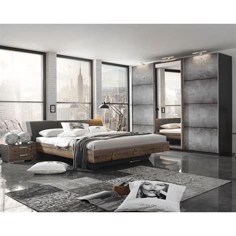 kleiderschrank betonoptik schlafzimmer set streetway kleiderschrank bett nakos