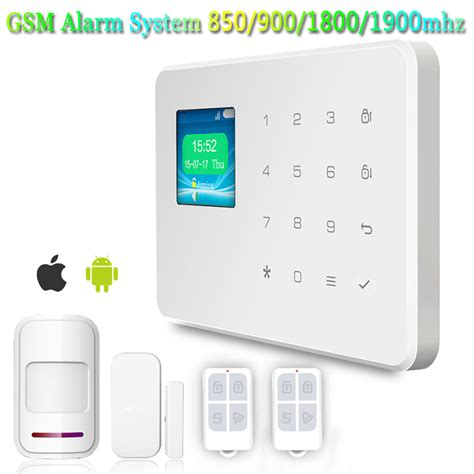 wireless wired gsm pstn home security burglar smart