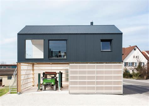 Up Garage Site Small Home With 1st Floor Workshop Modern House Designs