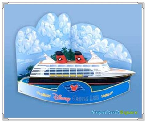 Origami Cruise Ship - disney cruise line sailor mickey goofy papercraft