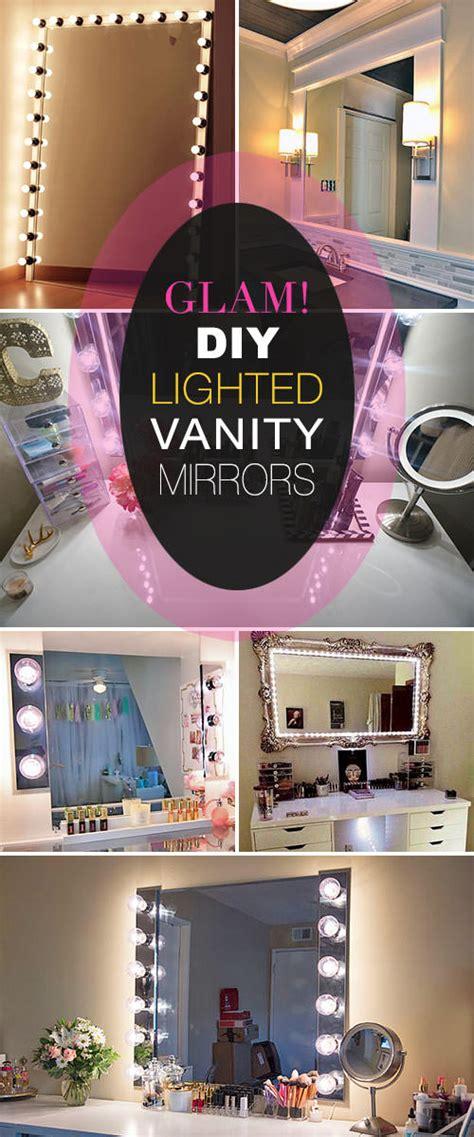 Diy Vanity Light Mirror by Glam Diy Light Up Vanity Mirror Projects Decorating