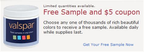 valspar paint free sle 5 coupon 1000 daily