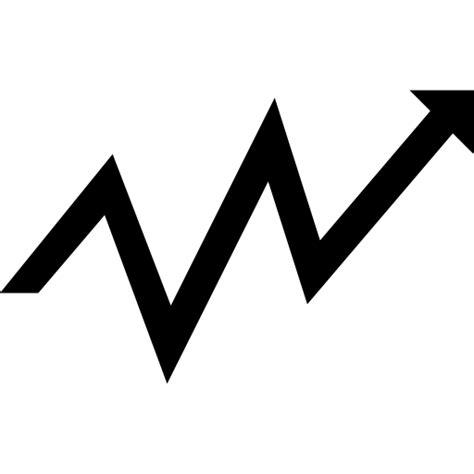 Flecha pequeña en zigzag hacia arriba - Iconos gratis de ...