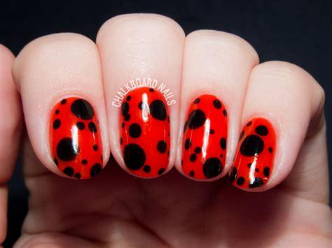 easy nail art ladybug ladybird inspired nail art chalkboard nails nail art blog