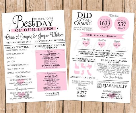 17 best ideas about wedding programs on pinterest