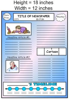 biography projects for middle school biography book report newspaper templates printable