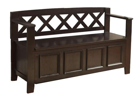 entry benches amazon com simpli home amherst entryway storage bench dark brown kitchen dining