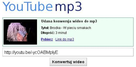 mp3 download youtube nl usenet info pl 187 czy konwersja wideo z youtube do mp3 jest