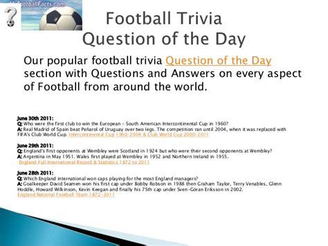 football trivia quiz my football facts and stats