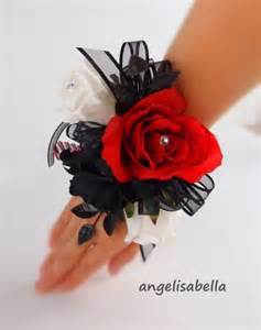Blue Corsages For Prom Wrist Corsage Red Black Prom Wedding Bridal Silk Flowers Party Dance Marine