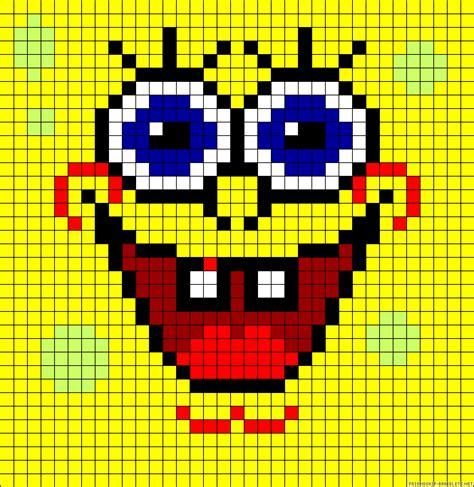 perler spongebob spongebob perler bead pattern pixel patterns