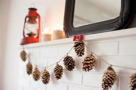 diy decorations pine cones diy gold leaf pine cone garland the sweetest occasion