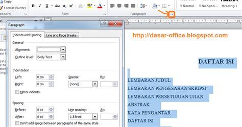 cara membuat daftar isi di word 2007 secara manual cara buat daftar isi di word dapid sopandi cara membuat