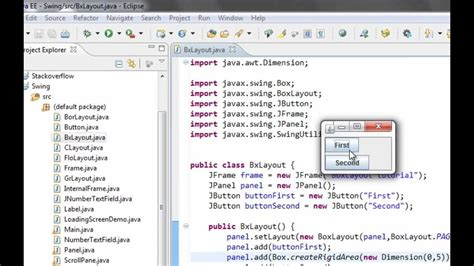 java swing layout java swing gui tutorial 19 boxlayout