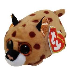 ty beanie boos teeny tys stackable plush kenny leopard 4 bbtoystore toys