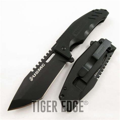 usmc tactical knife usmc elite tactical marine titanium coated black g10