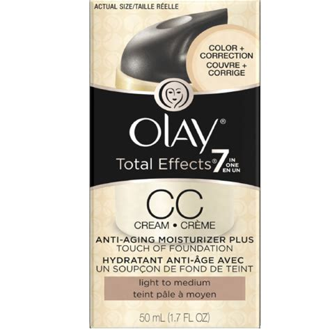 Olay Total Effect Anti Aging olay total effects 7 in one anti aging moisturizer touch of foundation light to medium 1 7 oz