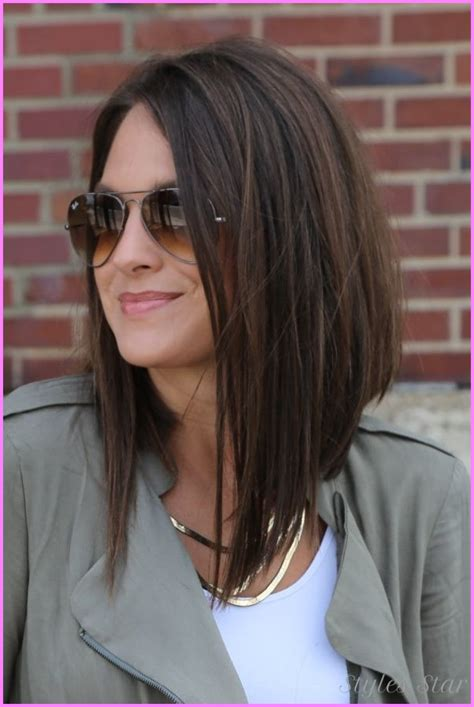 medium hair longer in front medium haircuts longer in front stylesstar com