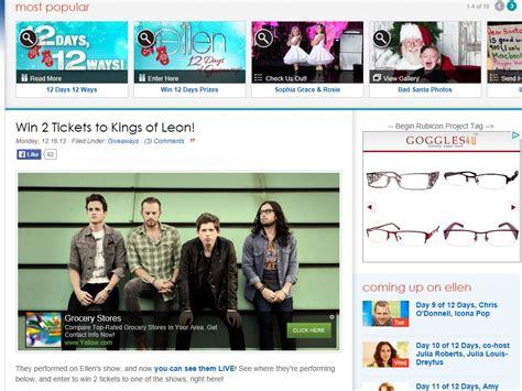 Ellen Tv Giveaways - ellen tv kings of leon sweepstakes