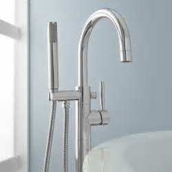 simoni freestanding tub faucet and shower bathroom